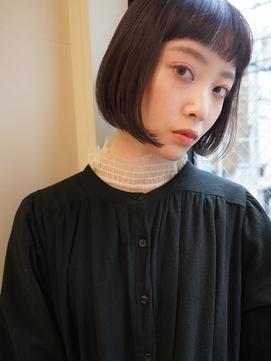 【NOUS】ミニボブ/黒髪/ショートヘア/オン眉/20代30代40代