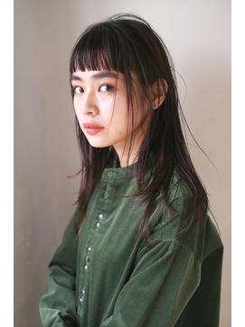 OM's × 短め前髪の大人かわいい黒髪ロング(髪質改善)