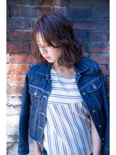 【新百合】丸みショート無造作カールボブディイルミナカラー42.27