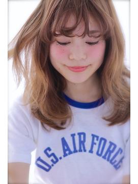 外国人風 × セミウェット × シースルーパーマ