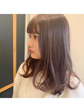 ☆ラベンダーグレージュ☆パツッと前髪☆