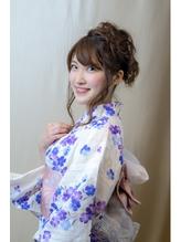 【下北沢*I'll b hair*】浴衣に似合うモーブカラーアレンジ カチューシャ.31