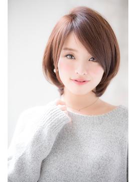 【joemi】大人毛先パーマ丸みショートボブグレージュ(小倉太郎