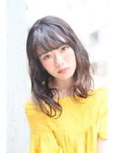 ROENA☆ゆるふわアッシュ☆くびれミディワイドバング ブラウンアッシュ.42