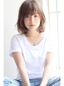【GARDEN】メルトカラー×ミディアムパーマ(田塚裕志)