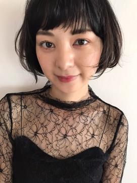 【VEIN】フレンチボブ マニッシュ ショート ネイビーカラー