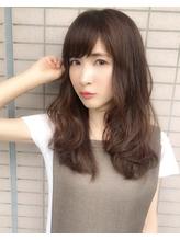 famille・小顔に見せるヘア☆ブランジュカラーセミロング.19