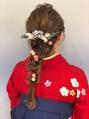 編みおろし ヘアアレンジ 袴スタイル