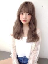 【Real 遠藤眞実】外国人風グレージュカラーミルクティーカラー ハーフアップ.12