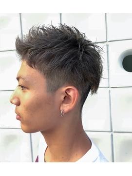 アップバング刈り上げショート【短髪ツーブロック】