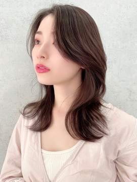 【vlow表参道】韓国くびれミディ かきあげセンターパート 中島