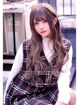 ☆CAPSULE☆ラベンダーアッシュブラウンシールエクステ60