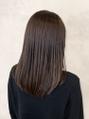 髪質改善ヘアエステで艶感ダークブラウン