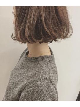 ★blues★大人ショートボブスタイル毛先パーマ