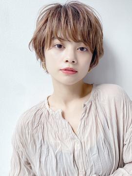 【K-two Esola 池袋】ハイトーンカラー/ひし形ショート/カール