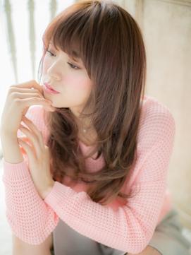 西荻窪★ピンクカラー×イルミナカラ-の甘めロングウルフ♪b