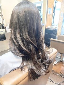 くすみグレージュ【髪質改善・艶髪】かきあげロング