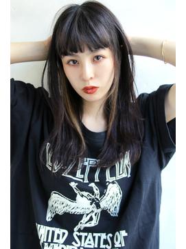 【Blanc/福岡天神】3Dカラー/インナーカラー/黒髪セミロング ng