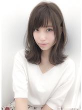 外ハネミディ☆とろみアッシュ.48