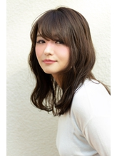★hair LOGiA★ 〇波巻きミディアム ハイライト.1