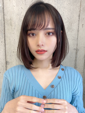【Lond Alexia】柴田知亜希 丸顔さんオススメ♪長めボブ☆
