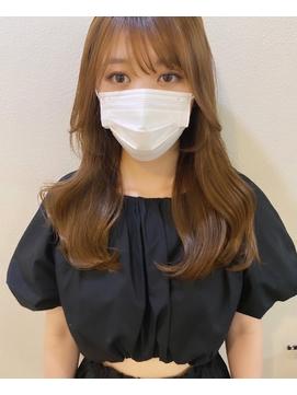 ツヤ髪 韓国風バランスのロングレイヤースタイル