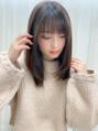 美髪ストレートワンカールサイドバングシースルー前髪