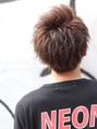 かきあげ前髪横顔爽やかアップバングショート