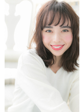 *CUORE我孫子*…ボルドーカラー☆くせ毛風セミディa.50
