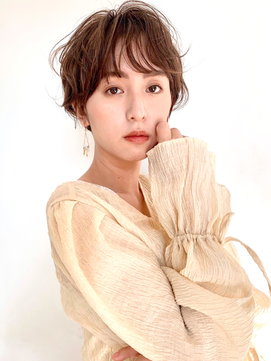 【CORSObyk-two西宮北口】ニュアンスエアリーパーマショート