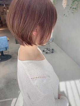 大人の透明感カラー/ブリーチなし/ピンクベージュ/mio kuwamoto