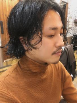 (fushimiお客様スタイル)流行は捨て、ユニセックスにまとめる。