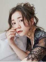 無造作カールお団子アップ.52