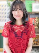 *bliss戸田公園*朝楽☆黒髪×斜めバング外ハネくせ毛風ミディa.54