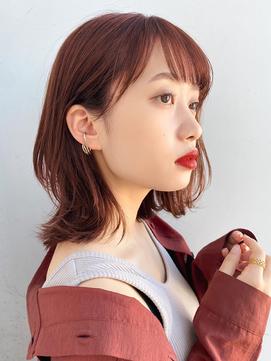 【GARDEN荒井夏海】ふんわり大人レイヤーロブ×暖色カラー