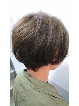 グレージュゆるふわボブ【miel hair blanc】