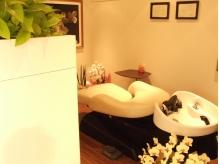 半個室空間にある【YUMEシャンプー台】でウトウト居眠り…♪