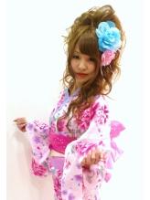 2013☆夏浴衣着付け&セット5250円 盛り髪.60