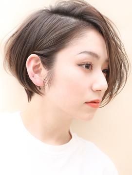 前髪なしイメチェンショート