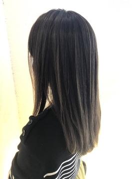 《 縮毛矯正 × ハイライト 》 つや髪ダークロング☆
