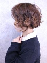 福山市 パーマ人気Caaryショートボブ 似合わせカットで小顔に.53