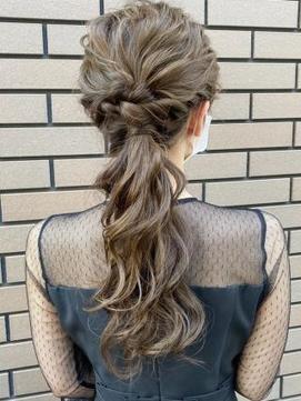 【AUBE HAIR】ゆるっと編みおろしヘア