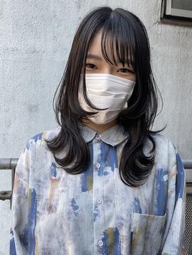 【DIORAMA】ロングウルフカット/グレーブラック