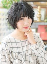 くせ毛風ゆるふわガ-リ-黒髪マッシュショートa川口10代20代30代.20