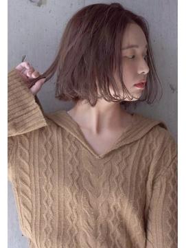 【Stylist 本田愛】リラクシーボブ チョコレートカラー