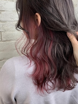 ピンクインナーカラー イヤリングカラー ピンク【赤羽】
