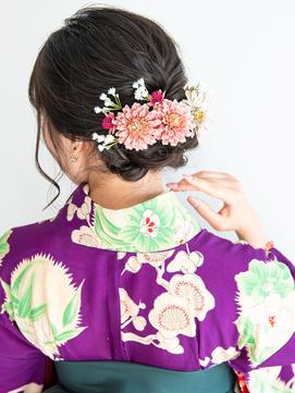 卒業式の袴に似合う♪編み込みダウンヘアアレンジ♪