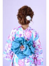 <浴衣アレンジ>ふんわりルーズな編込みアップヘア【長野】 まとめ髪.34