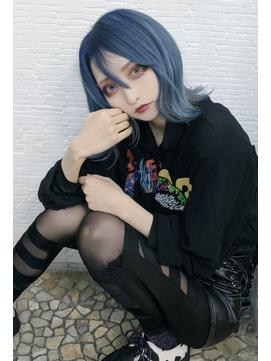 【ANKH CROSS原宿店Mizuki】のむらこいちさん×ブルーアッシュ
