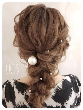 IRIS☆キレイめ編みおろしヘア☆